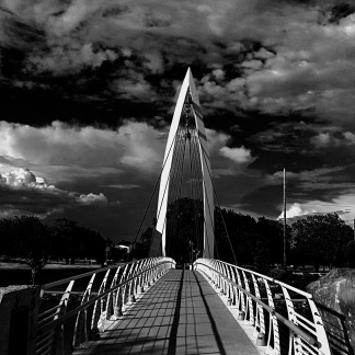Bridge over the Arkansas River, Wichita, KS (Photo: Jason M. Vaughn, All images copyright © 2018 by Jason M. Vaughn Photography. All rights reserved.)